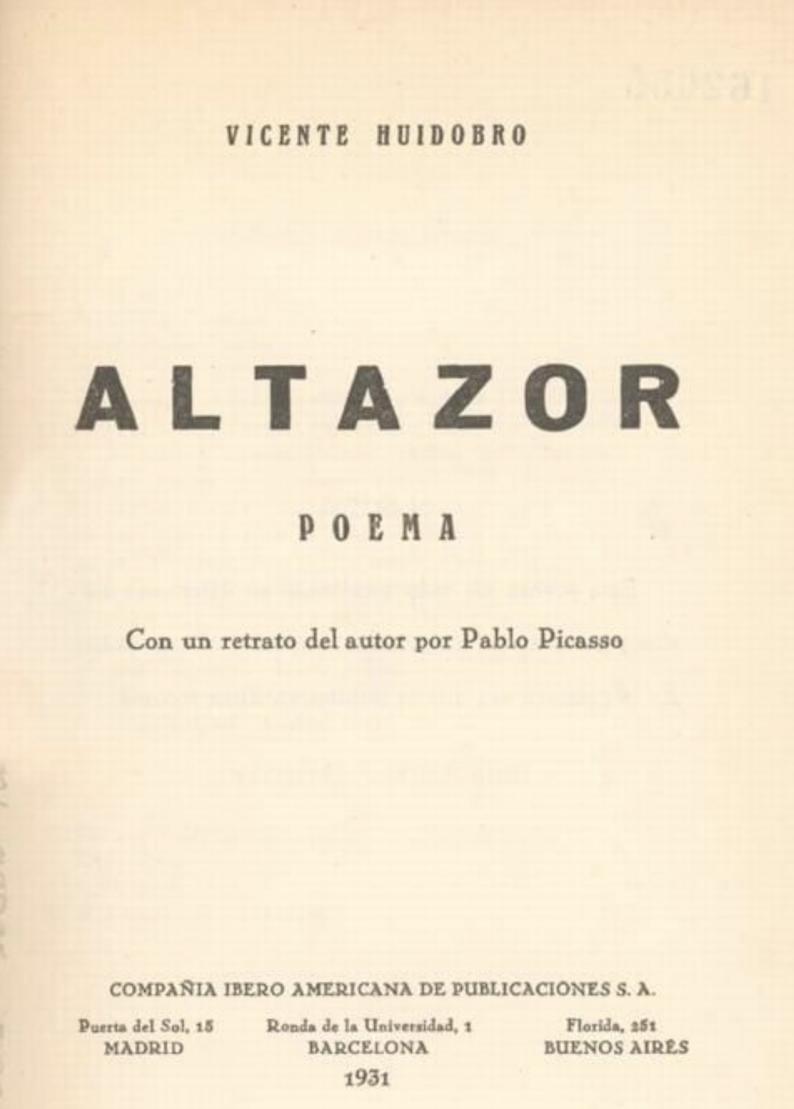 La Estructura Del Poema Altazor Rodrigo Ertti I N D I B U R